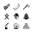 Woodworking icon set vector image vector image