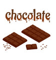 isometric set of chocolate bars isolated on white vector image