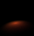 Halftone circle on Black Background vector image