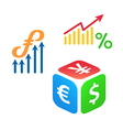 forex trading vector image