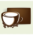 abstract card with up of coffee or tea vector image