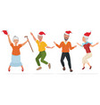 adult people in christmas vector image