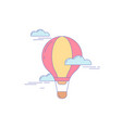 air balloon line icon for landing vector image vector image