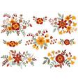 Autumn Bouquets vector image vector image