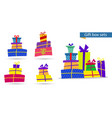 big collections colorful gifts box gift icons vector image vector image