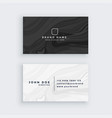 black and white modern business card with marble