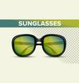 black retro sunglasses trendy 3d shades vector image vector image