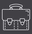 briefcase line icon business and portfolio vector image vector image