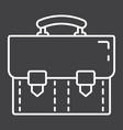 briefcase line icon business and portfolio vector image