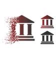 broken dot halftone library building icon vector image