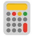 calculator with buttons device for calculation vector image vector image