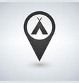 camping base location icon drop shadow map vector image vector image