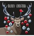 Christmas deer and christmas tree toys vector image vector image