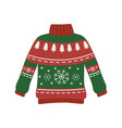 christmas red and green ugly sweater party vector image