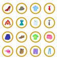 clothing icon circle vector image vector image
