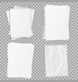 collection of various realistic white papers vector image vector image