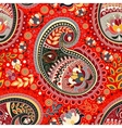 Colorful Paisley seamless pattern Red Indian vector image
