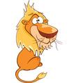 Cute Lion Cartoon Character vector image