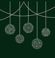 decorative christmas card with white tree ball vector image