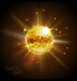disco ball disco background vector image vector image
