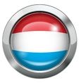 Dutch flag metal button vector image vector image