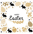 easter decorative card vector image vector image
