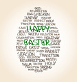 Easter egg made from handwritten words vector image