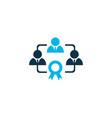 effective teamwork icon colored symbol premium vector image vector image