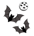 Flying bats with moon