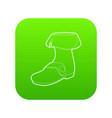 footwear icon green vector image