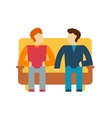 Friends and friendly relationship icon vector image vector image