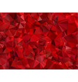 garnet red abstract background polygon vector image vector image