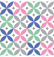 geometric seamless pattern in pastel colours vector image vector image