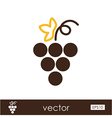Grapes outline icon Fruit vector image vector image