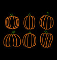 halloween six pumpkin 5 vector image