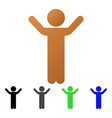 hands up child flat gradient icon vector image vector image