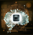 human brain is a circuit vector image
