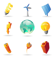 Icons for energy and ecology vector image vector image