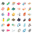 internet optimization icons set isometric style vector image vector image