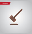 isolated justice flat icon tribunal vector image