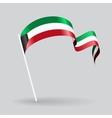 Kuwait wavy flag vector image vector image