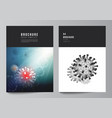 layout a4 cover mockups templates vector image vector image