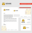 life jacket business letterhead envelope and vector image vector image