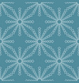 line stars seamless pattern on blue background vector image vector image