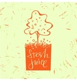 Logo symbol for fresh juice Fruit tree Orange vector image vector image