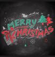merry christmas chalk lettering design set vector image vector image
