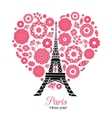 Paris Eifel Tower Bursting With St vector image