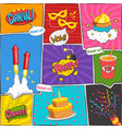 Party Comic Page Design vector image vector image