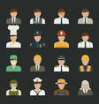People icon professions icons worker set vector image