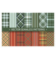 plaid pattern seamless ornate set red and green vector image vector image